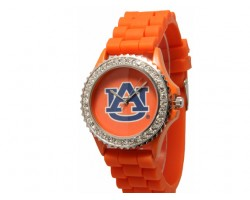 Auburn Tigers Large Silicone Crystal Watch