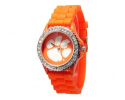 Clemson Tigers Large Silicone Crystal Watch