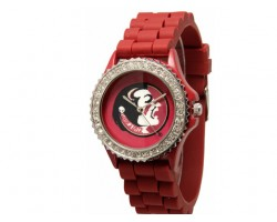 Florida State Seminoles Large Silicone Crystal Watch