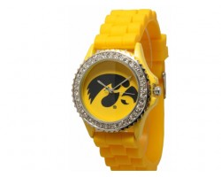Iowa Hawkeyes Large Silicone Crystal Watch