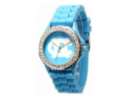 North Carolina Tarheels Large Silicone Crystal Watch