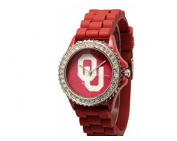 Oklahoma Sooners Large Silicone Crystal Watch