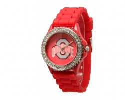 Ohio State Buckeyes Large Silicone Crystal Watch