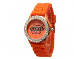 Oklahoma State Cowboys Large Silicone Crystal Watch