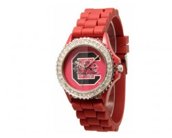 South Carolina Game Cocks Large Silicone Crystal Watch