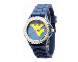 West Virginia Mountaineers Large Silicone Crystal Watch