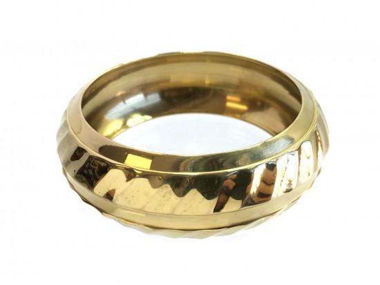 Shiny Brass Swirl Pattern India Brass Bangle