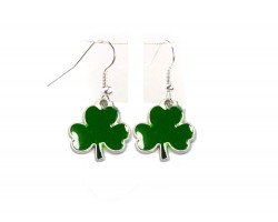 Green Clover Hook Earrings