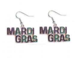 MARDI GRAS Colored Hook Earrings
