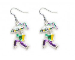 Man Umbrella Man Mardi Gras Earrings