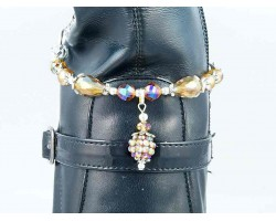 LCT Pave'd Crystal Pearl Tear Drop Boot Jewelry