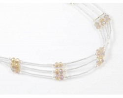LCT Crystal Liquid Silver 3 Line Stretch Headband