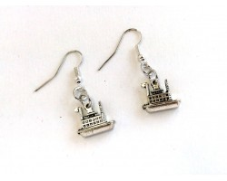 Silver River Boat Hook Earrings