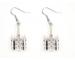 Silver Cathedral Hook Earrings