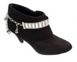 Clear Vertical Rectangles Crystals Shoe Boot Jewelry
