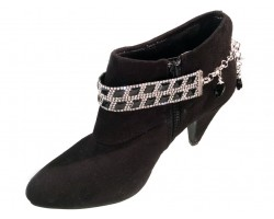 Black Crystal Diamond Shape Shoe Boot Jewelry