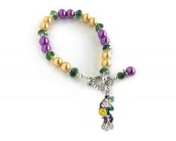 Mardi Gras Bead Main Stick Bracelet
