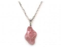 Rose Quartz Faceted Diamond Necklace