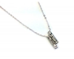Silver Love Charm Chain Necklace