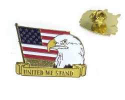 USA Flag Eagle United We Stand Tie Tac Dz Pack