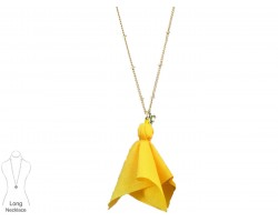 Yellow Penalty Flag Chain Necklace