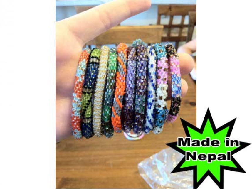 Genuine Nepal Hand Crafted Roll On Mission Bracelets