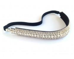 Clear Crystal Multi Line Stretch Headband