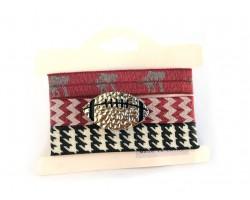 Alabama Theme Football Hair Tie Bracelet 18pk