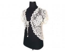 Ivory Crochet Lace Shrug