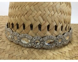 Crystal Marquise Round Stretch Hat Band