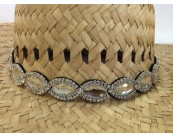 Crystal Marquise Stones Stretch Hat Band