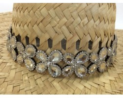 Clear Crystal Butterfly Stretch Hat Band