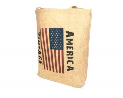 American Vintage Flag Tote Bag