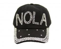 NOLA Clear Crystal Black Ball Cap