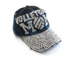 Blue Denim Volleyball MOM Baseball Hat Cap
