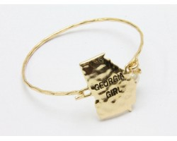 Gold Georgia Girl State Map Bangle