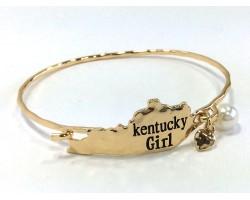 Gold Kentucky Girl State Map Bangle