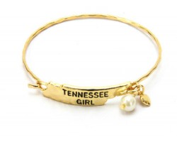 Gold Tennessee Girl State Map Bangle