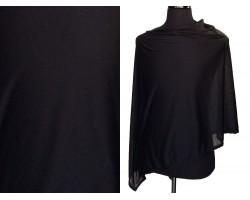 Black Jersey Knit Side Triangle Poncho