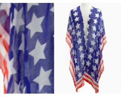 USA Stars Flag Theme Kimono