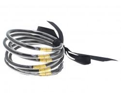 Black Sparkle Jelly Tube Bracelet 5pc Set