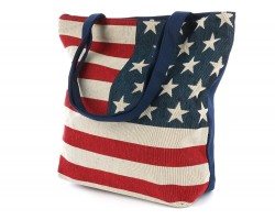 Red White Blue American Flag Tote Bag