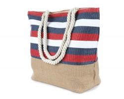 Red White Blue Stripe Pattern Tote Bag