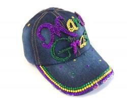 Mardi Gras Denim Ball Cap