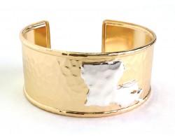 Gold Silver Louisiana Map Cuff Bangle