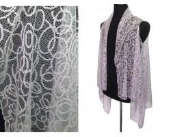 Gray Circular Pattern Lace Sleeveless Cardigan