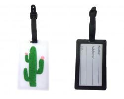 Green Cactus Silicon Luggage Tag