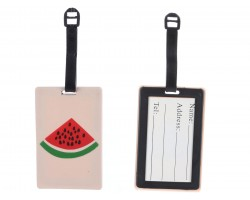 Red Watermelon Silicon Luggage Tag