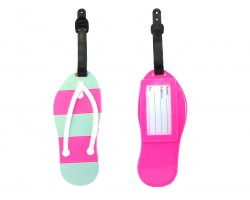 Pink Sandal Silicon Luggage Tag