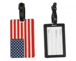 American Flag Silicon Luggage Tag